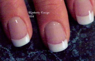Pink And White Sculpted Acrylic Nail By Kim Ensign